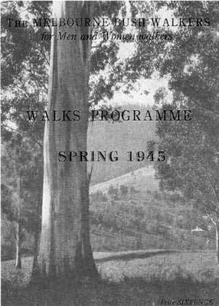 Cover of Walks Program, Spring 1945
