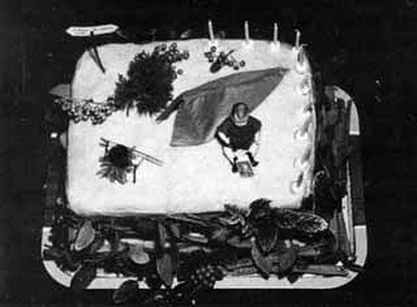 Birthday cake for the Melbourne Bushwalkers' 10th anniversary, April 1950.